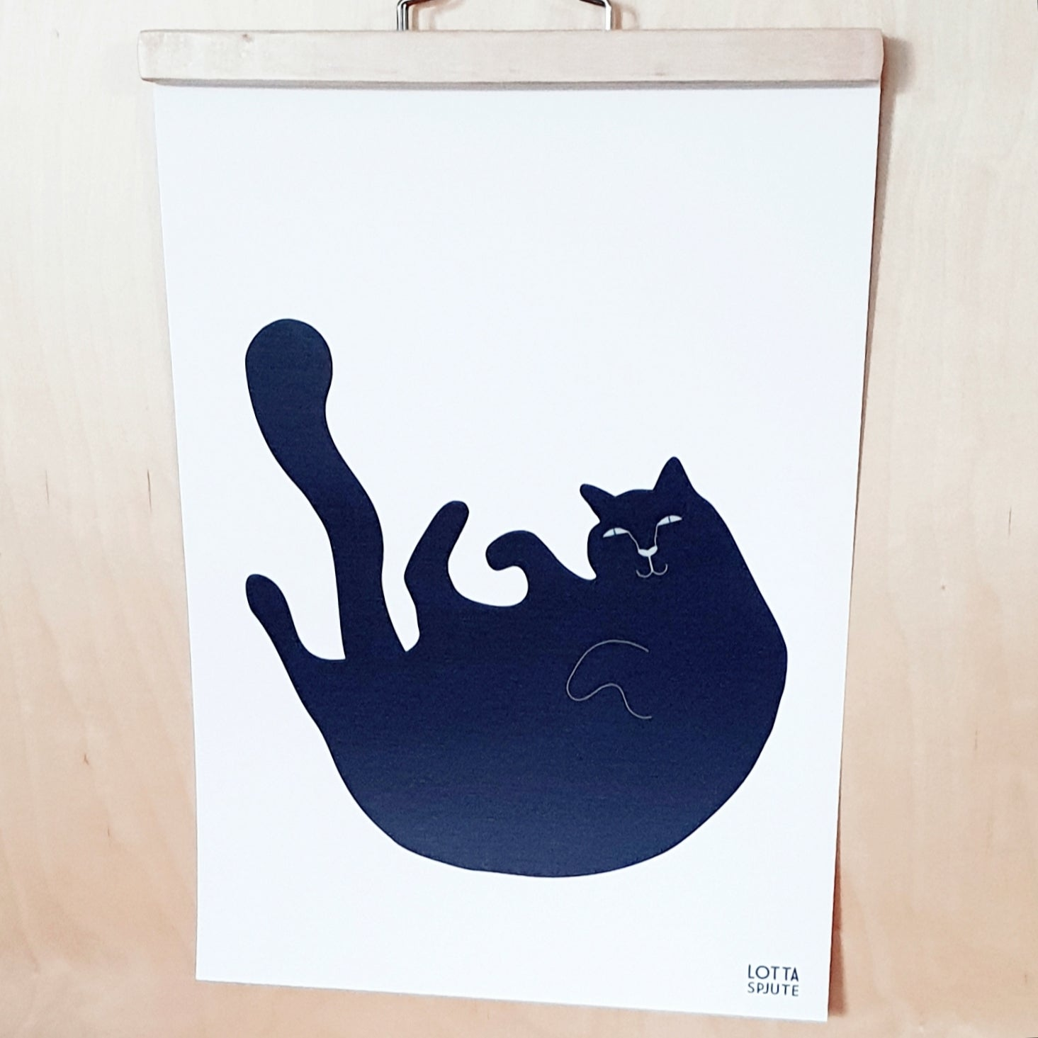 "A3 ART POSTER ""SILLY BILLY THE CAT"""