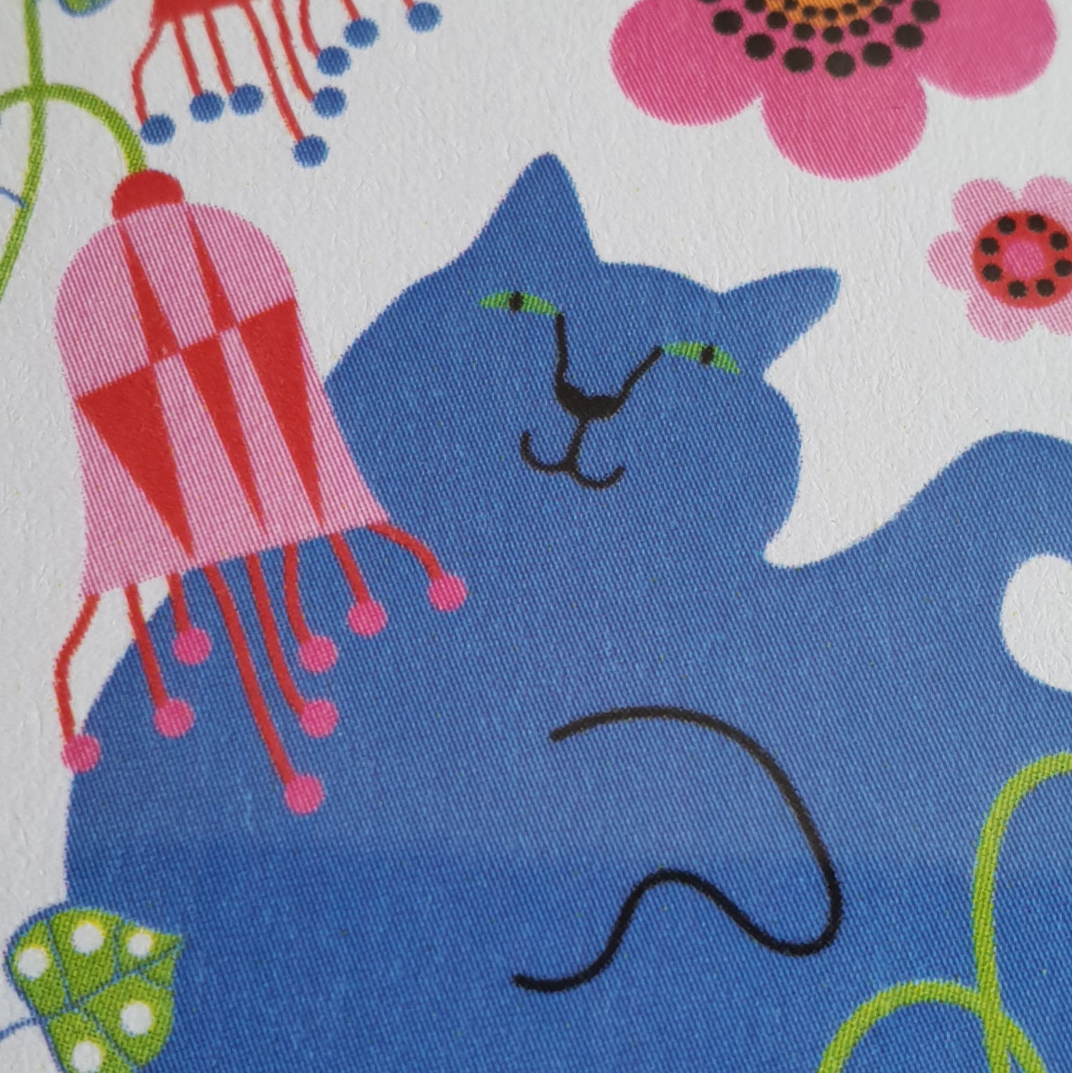 POCKET MIRROR BLUE CAT