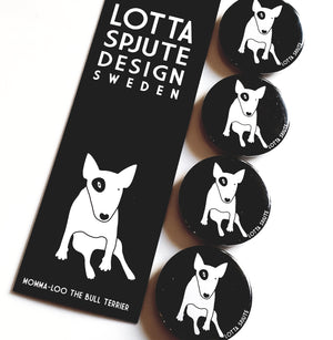 4 x 38mm BULLTERRIER MAGNETS