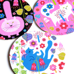 FLORAL ALEX CAT COASTER
