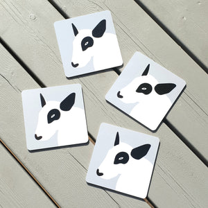 4 PACK BULL TERRIER BIRCHWOOD COASTERS