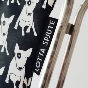 COTTON CANVAS TOTE BULLTERRIER PRINT