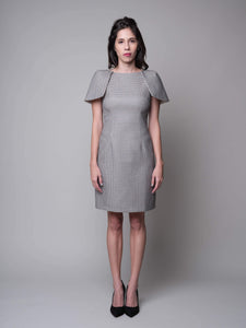 Have Little Wings Will Fly Sheath Dress in Grey - capsulebyedith