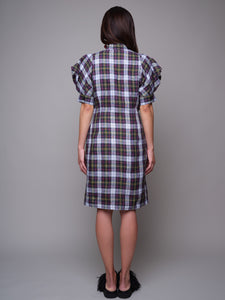 Puffy Sleeves Shirt Dress - capsulebyedith