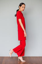 Load image into Gallery viewer, Split Hem Pants (in Black, Red, Saffron Yellow)