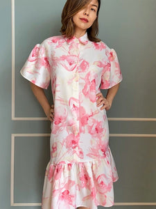 Palm Sunday II Shirtdress in Pink