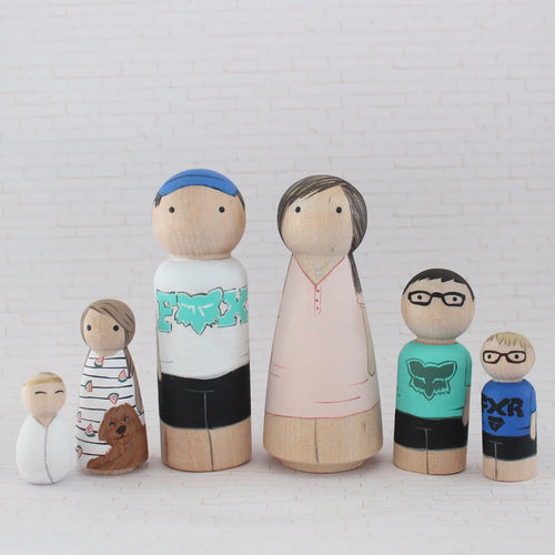 Mini Me Custom Family of 6