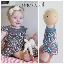 Load image into Gallery viewer, Mini Me Custom Peg Doll Birthday Cake Topper