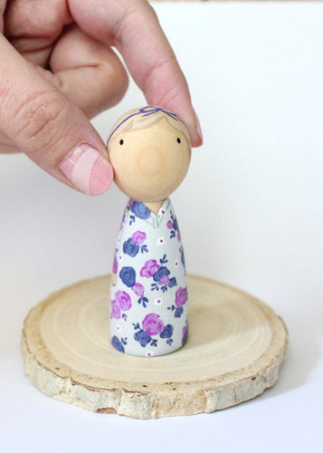 Mini Me Custom Peg Doll Birthday Cake Topper