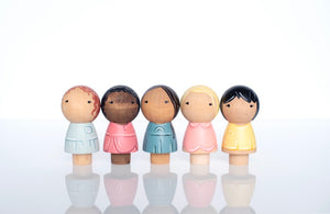 Kokeshi Friendship dolls set of 5