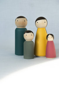 Pantone Peg Doll Family