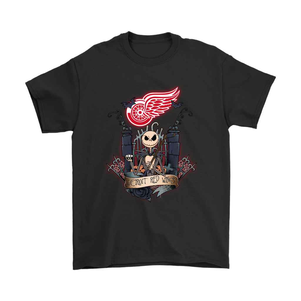 detroit red wings jack skellington this is halloween nhl shirts