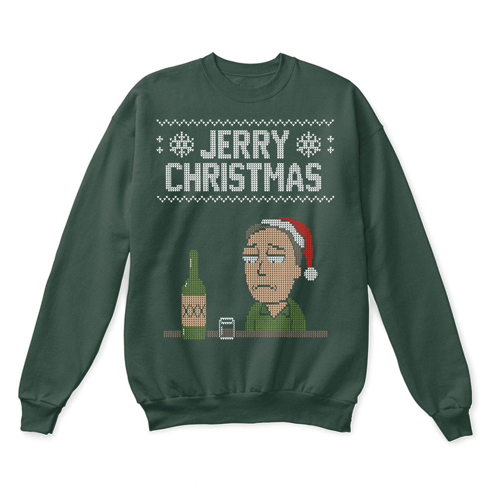 All Through The Night Jerry Christmas Rick And Morty Ugly Sweater ...