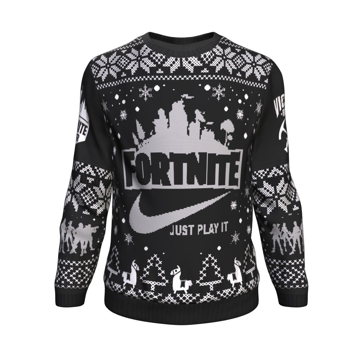Fortnite Battle Royale X Nike Just Play It All Over Printed Sweater