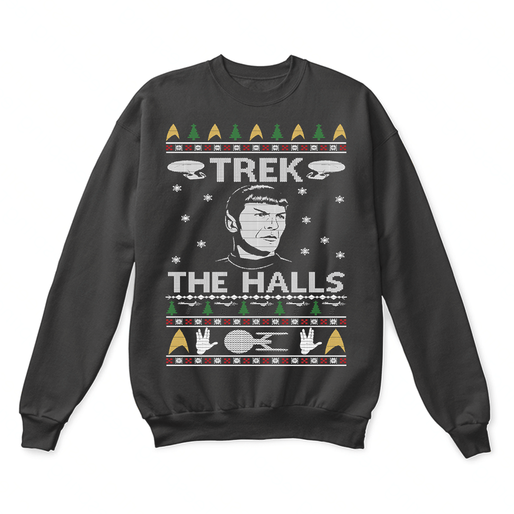 Deck The Halls Mashup Star Trek Ugly Christmas Sweater Teeqq Store