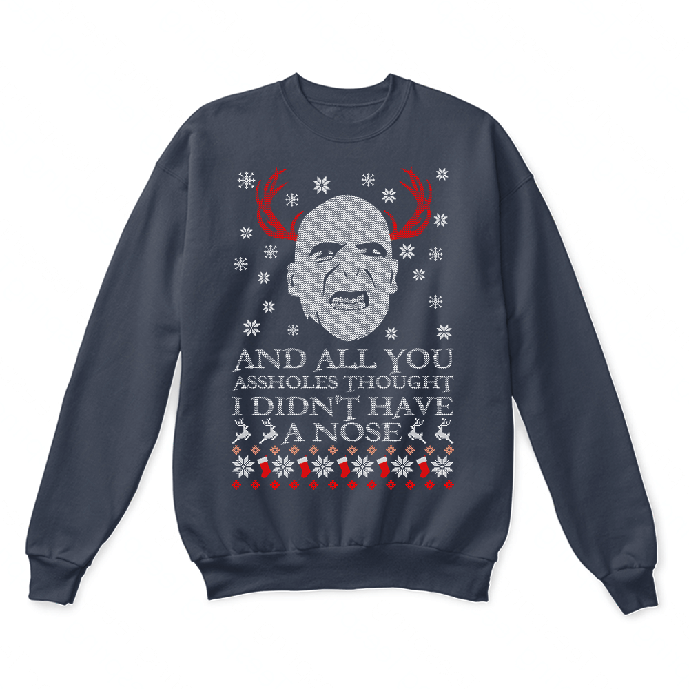 i didnt have a nose voldemort harry potter christmas ugly sweater