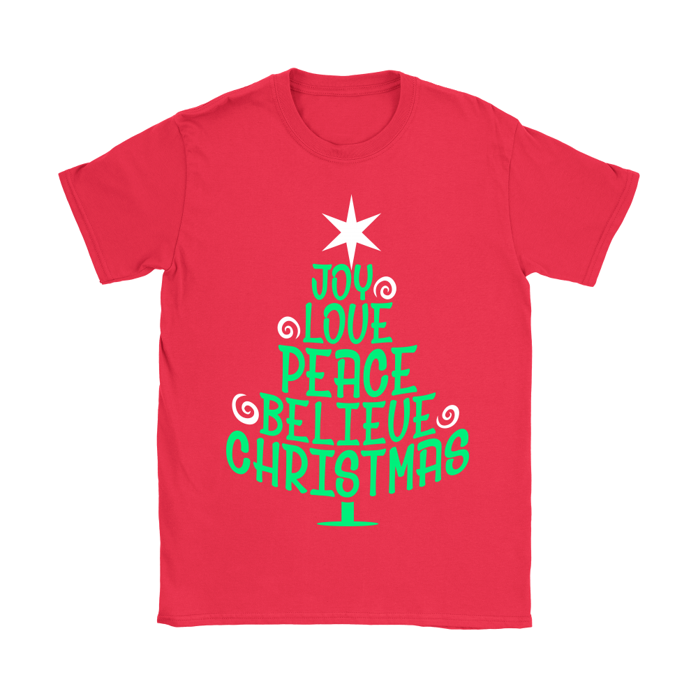 joy love peace believe christmas shirts