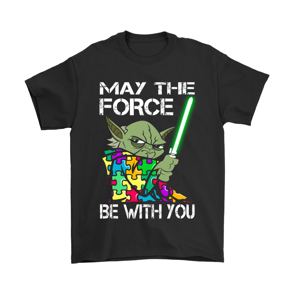 May The Force Be With You Autism Awareness Star Wars Shirts Teeqq