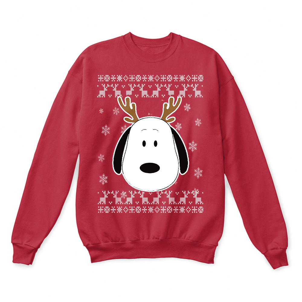 peanuts wish you a merry christmas reindeer snoopy ugly sweater
