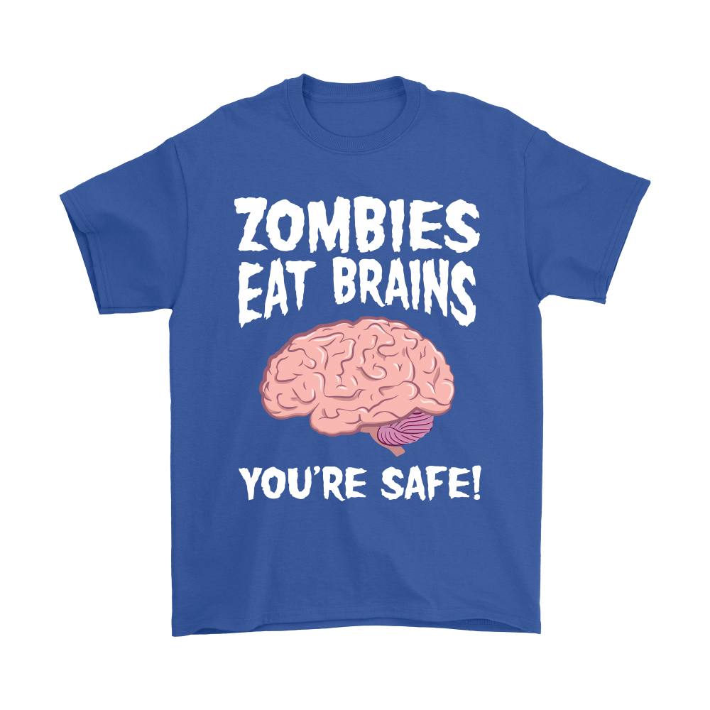 zombies eat brains youre safe funny halloween shirts