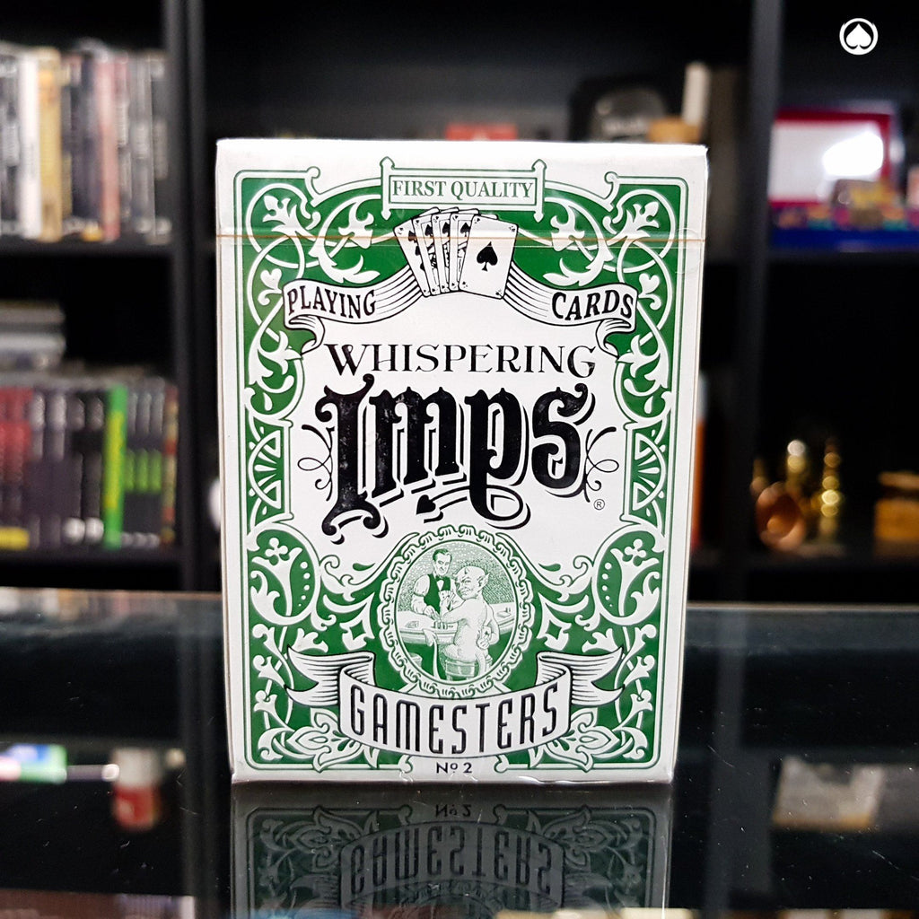 Exclusive Edition Gamesters Playing Cards  by Whispering Imps - Verde