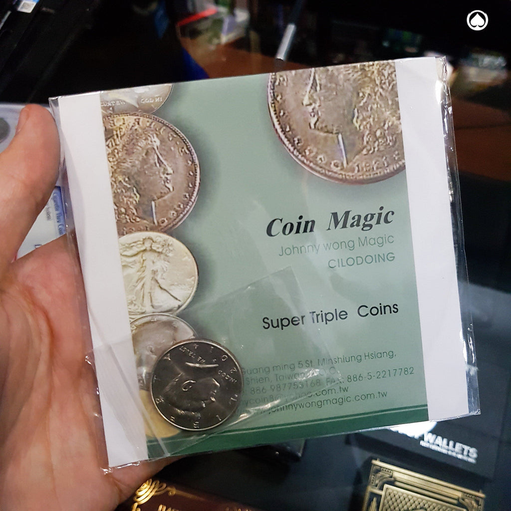 Super Triple Coin by Johnny Wong - Moneda/DVD - Half Dollar