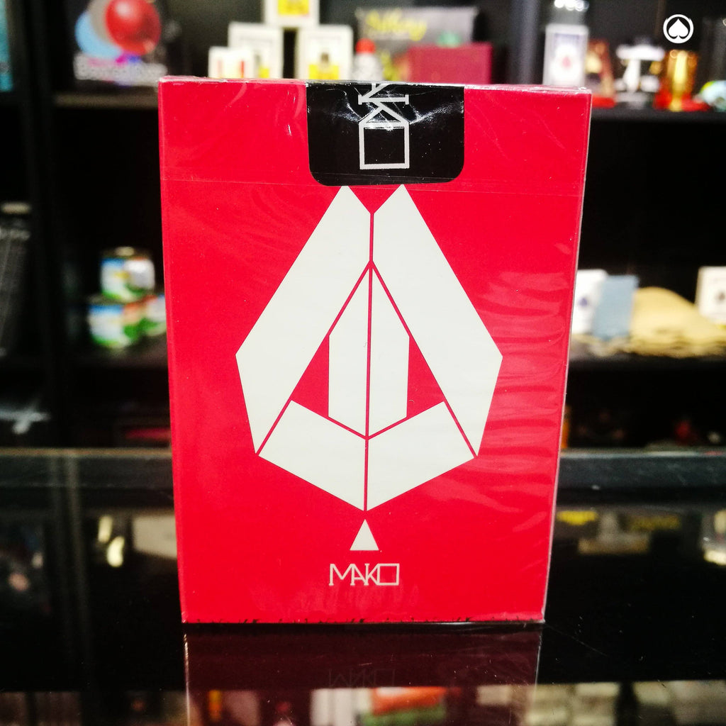 Limited Edition Mako Playing Cards by Toomas Pintson - Red