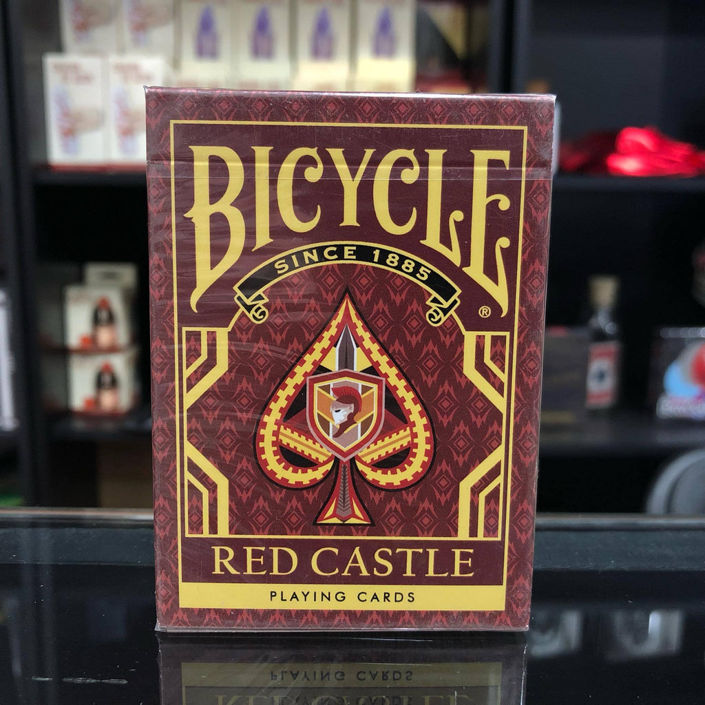 Bicycle Red Castle Playing Cards by Collectable Playing Cards