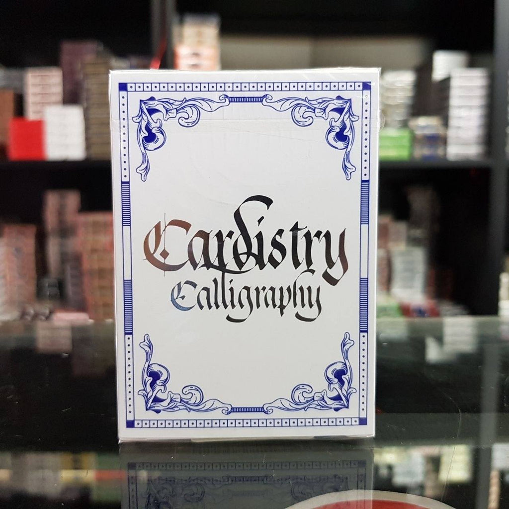Cardistry Calligraphy Playing Cards - Azul