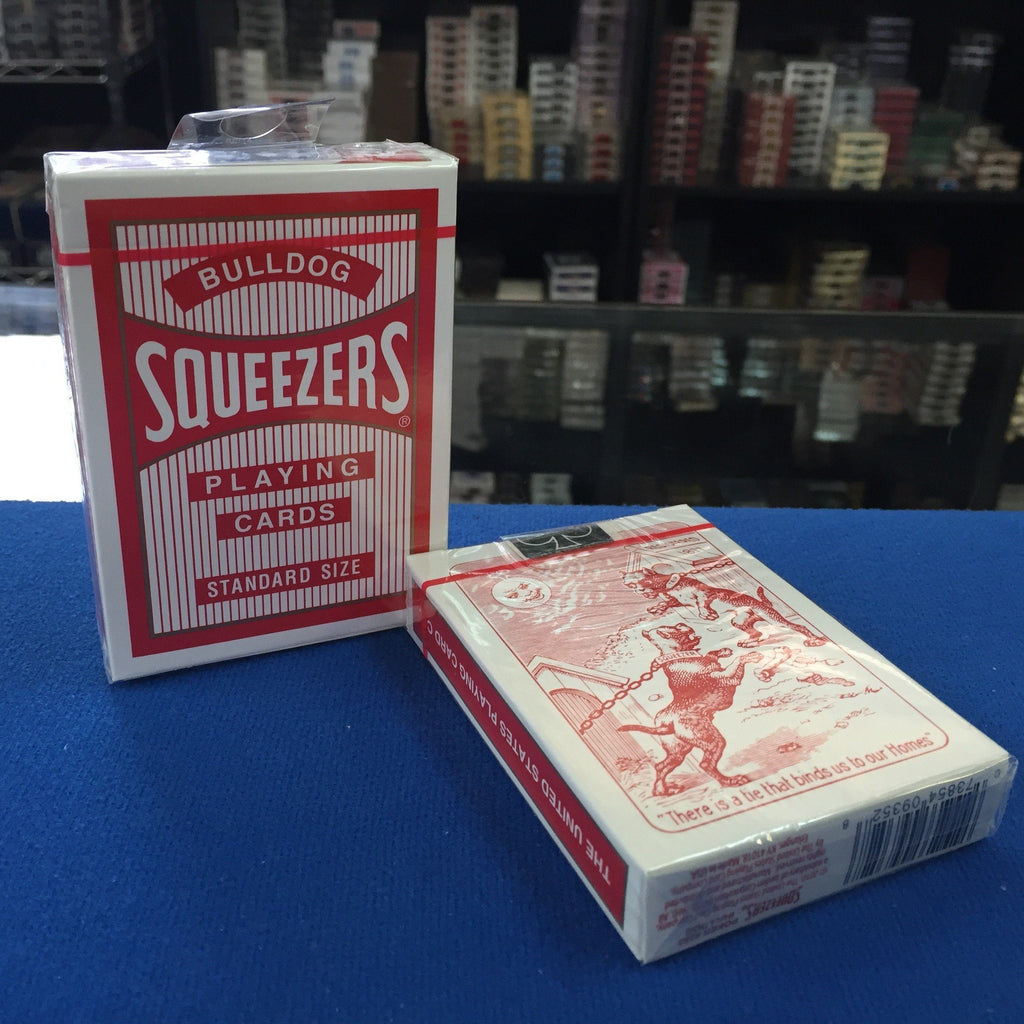 Squeezers Bulldog Playing Cards - Rojo