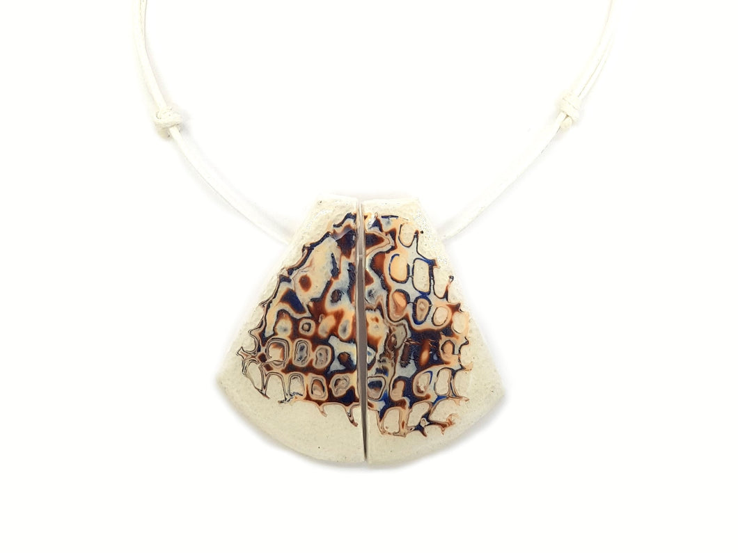 Honeycomb White Necklace