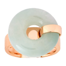 Load image into Gallery viewer, Ice Jade Donut Ring in Rose Gold