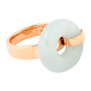 Ice Jade Donut Ring in Rose Gold