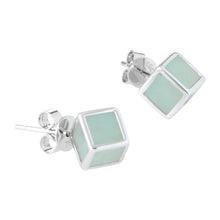 Load image into Gallery viewer, Ice Cube Jade Earrings in White Gold