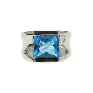 Dawn Silver with Blue Topaz Ring