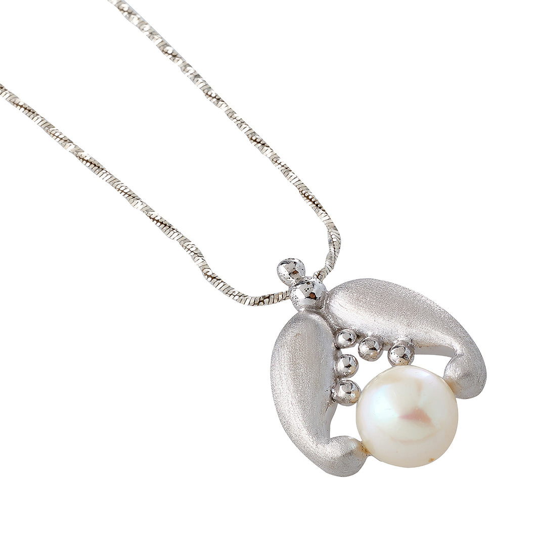 Akoya Pearl Necklace in Silver