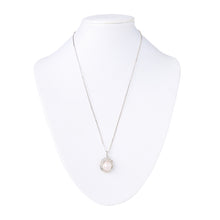 Load image into Gallery viewer, Akoya Pearl and CZ Necklace in Silver