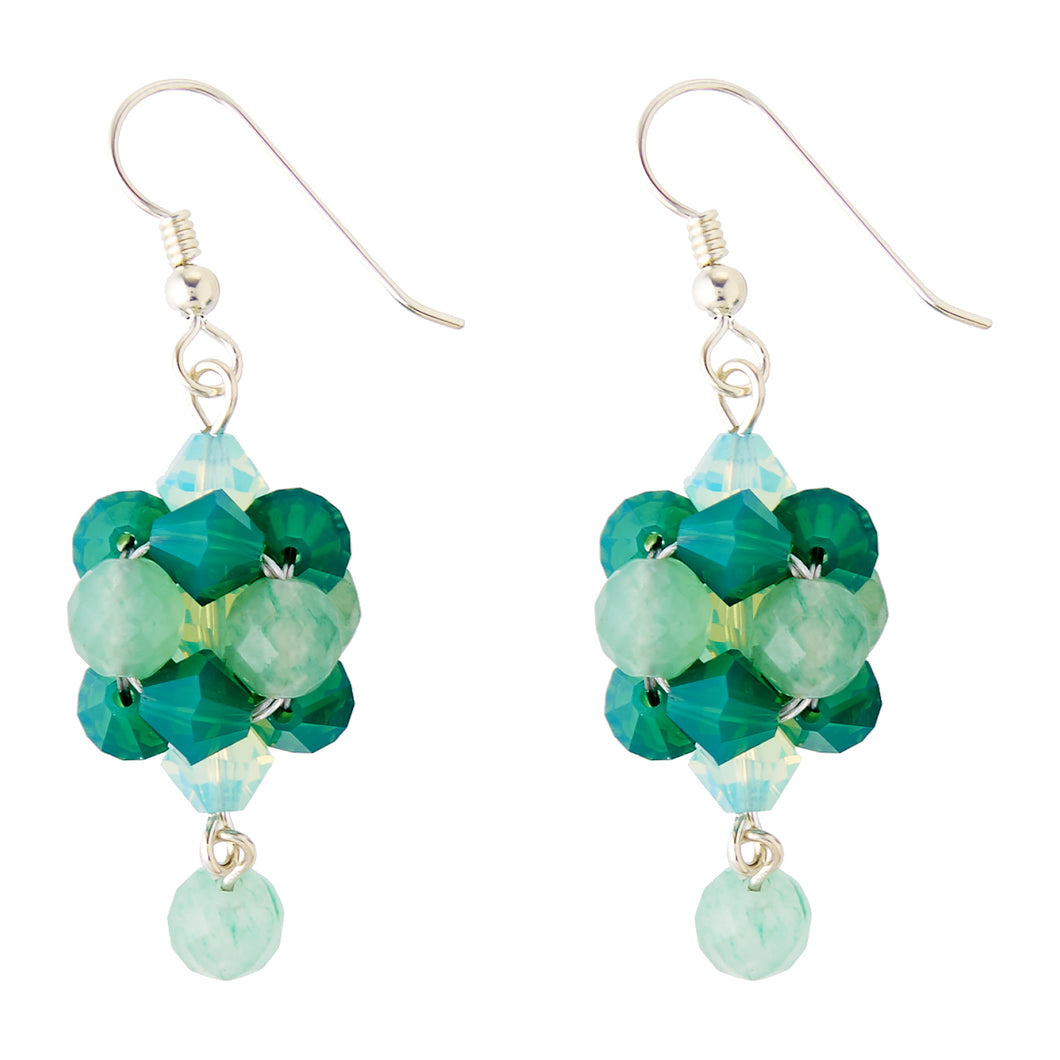 Evergreen Swarovski Peranakan Inspired Drop Earrings