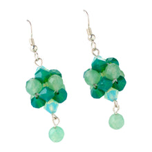 Load image into Gallery viewer, Evergreen Swarovski Peranakan Inspired Drop Earrings
