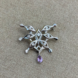 Eye-of-Knowing Brooch | Amethyst