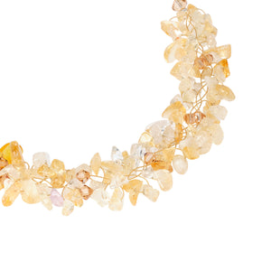Delicate Hue of Citrine Necklace