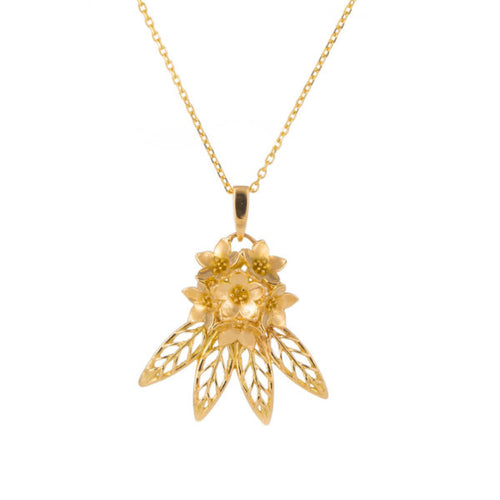 Mountain Beauty Gold Pendant