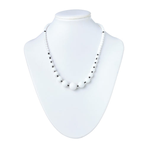 Sophisticated in White Jade Necklace