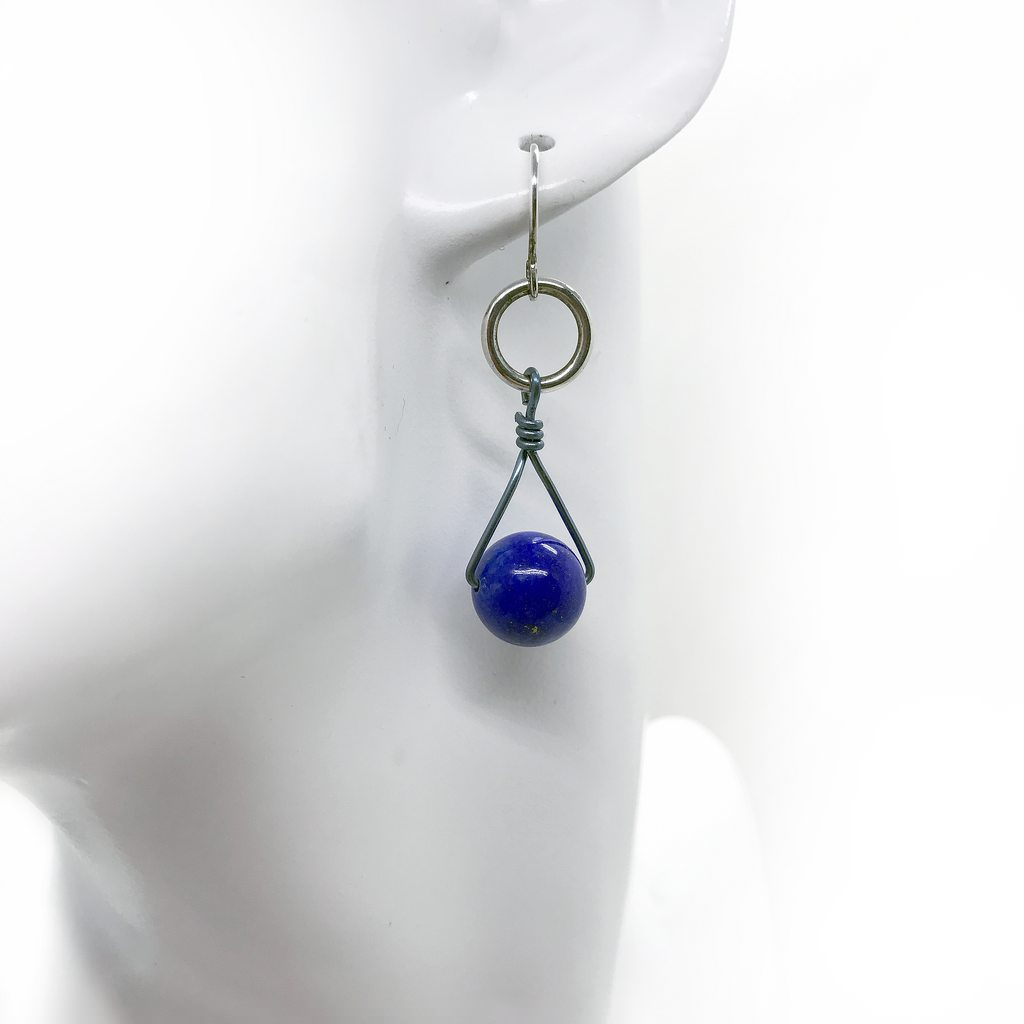 Lapis lazuli, earrings