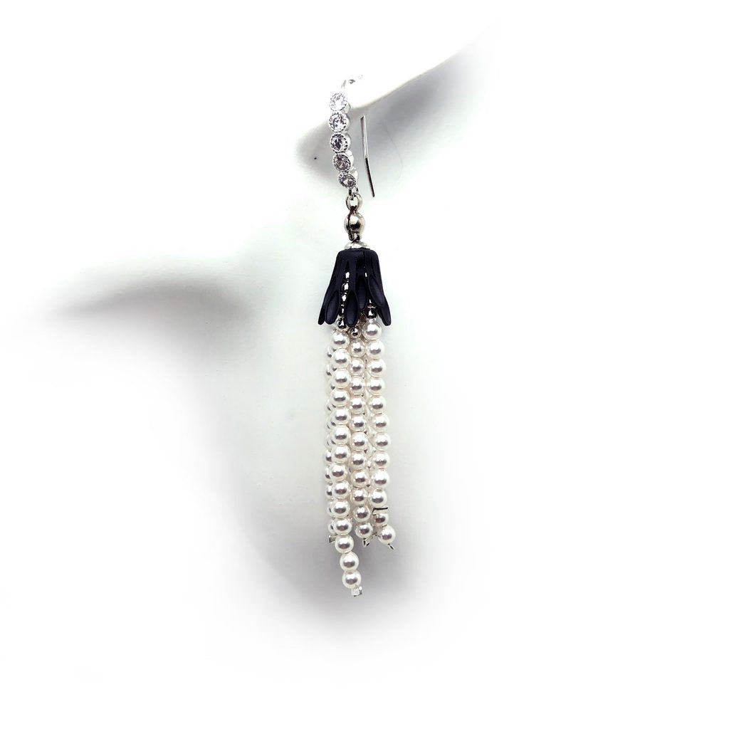 Swarovski pearls, earrings