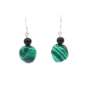 Malachite Onyx Earrings