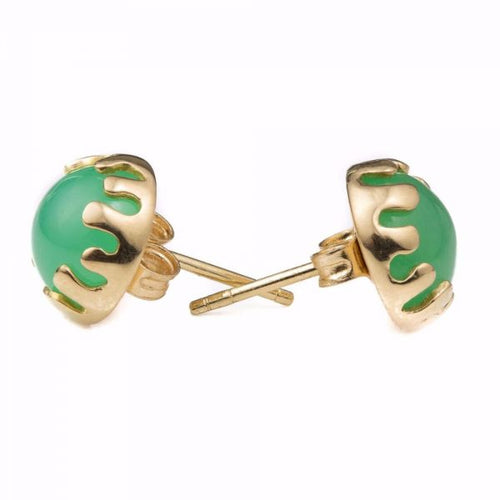 Splash Chrysoprase Earrings