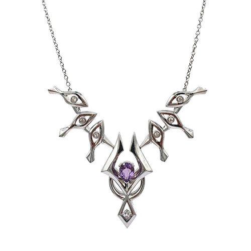 Eye-of-Knowing Necklace | Amethyst