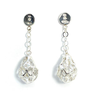 Silver Drop Earrings (Sterling Silver and Fine Silver)