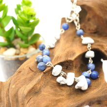 Load image into Gallery viewer, Sodalite, Howlite - Silver Bracelet